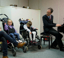 Donald Wetherick and children from Richard Cloudesley School, Nordoff Robbins Music Therapy.