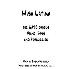 Misa Latina Score - coverpage